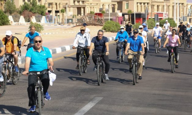 In Pic: Egyptian Ministers, 30 ambassadors take part in bike marathon in Sharm El Sheikh to celebrate World Tourism Day
