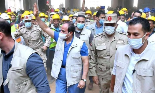 In visit to Olympic Games City, Sisi expresses pride of Egyptian workers