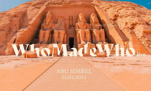 Danish trio Who Made Who is performing live at Abu Simbel Temple on February 22