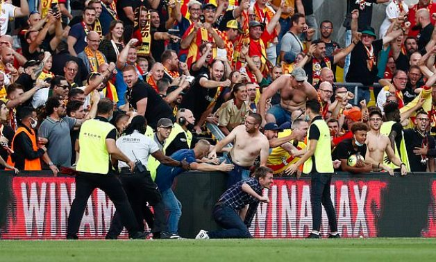 Lens to play two games without fans after crowd trouble