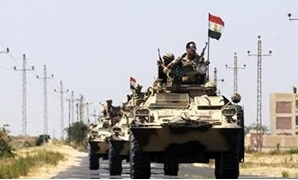 Egyptian army near AI-Arish in the sinai peninsula - Reuters