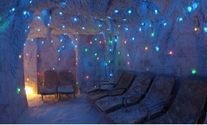 Chaise lounge in salt cave, Taba - Mohamed Elnjjar – Egyptian Tourism Campaigns, Facebook
