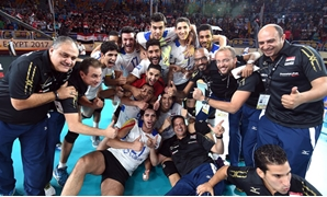 Egypt celebrating victory over Mexico – FIVB Website