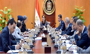 Minister of Investment Sahar Nasr during her meeting with GAFI board of directors Thursday- Press Photo