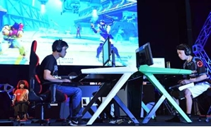 Visitors to the Tokyo Game Show are left in little doubt they are entering a male-dominated world - AFP