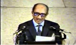 Sadat makes an historic speech before Israel's Knesset – Courtesy of Youtube