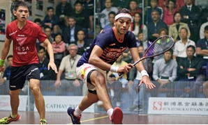 ElShorbagy Vanquishes Local Hero Max Lee on Day One of Hong Kong Open - Professional Squash Association -  courtesy of psa world tour website