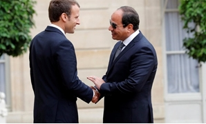 File- French President Emmanuel Macron receives President Abdel Fatah al-Sisi at the Elysee Palace Tuesday Oct.24, 2017 - Reuters
