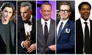 Nominees for the 75th Golden Globe Awards, Best Performance by an Actor in a Motion Picture, Drama category, (L-R) Timothee Chalamet, Daniel Day Lewis, Tom Hanks, Gary Oldman and Denzel Washington are seen in a combination of file photos. REUTERS