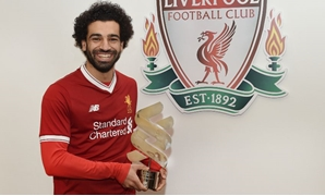 Mohamed Salah with the trophy – Courtesy of Liverpool`s official website
