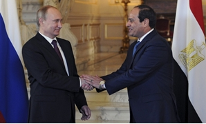 Egyptian President Abdel Fatah al-Sisi and his Russian counterpart Vladimir Putin – Press photo