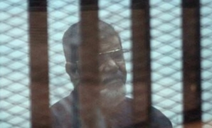 Former President Mohamed Morsi in a trial session – File Photo