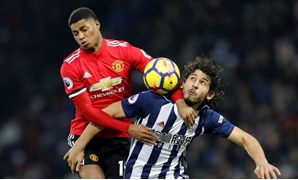 Soccer Football - Premier League - West Bromwich Albion vs Manchester United - The Hawthorns, West Bromwich, Britain - December 17, 2017 West Bromwich Albion's Ahmed Hegazi in action with Manchester United's Marcus Rashford REUTERS/Darren Staples