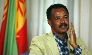 Eritrea's President Isaias Afwerki gestures during an interview in Asmara May 13, 2008. REUTERS/Radu Sigheti