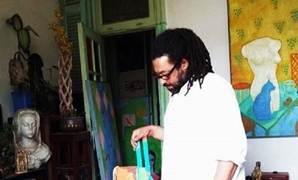 Ibrahim el-Haddad at the Mashrabia Gallery, edited, January 15, 2018 – MashrabiaGallery/Facebook