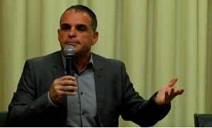 File – Oded Revivi, a spokesman for the Yesha Council during his speech at 2017 Community Leadership Program Summer Retreat, June 27, 2017 (Courtesy of Shalom Hartman Institute)