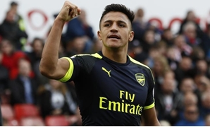 Premier League - bet365 Stadium - 13/5/17 Arsenal's Alexis Sanchez celebrates scoring their third goal Reuters / Stefan Wermuth Livepic