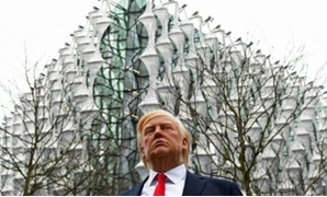 AFP / by Rosie SCAMMELL | Trump didn't go to London for the inauguration of the new US embassy, but there was a wax figure of him at the site