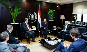 Minister of Investment and International Cooperation Sahar Nasr during her meeting with the European Commission's Neighborhood Policy and Enlargement Negotiations - Press photo