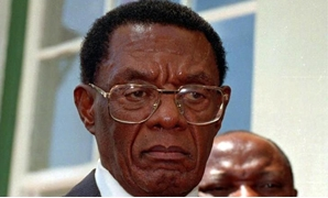 The President of the embattled homeland of Bophuthatswanna, Lucas Mangope. File.