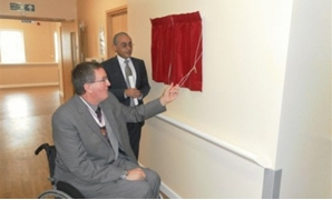 Opening Ceremony of Challenging Behavior Unit Opening - Dr Naser Fouad, CEO of St George Healthcare Group & Mr Dave Thompson MBE, Deputy Lieutenant of Cheshire – Courtesy to St George Healthcare Group website.
