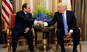President Abdel Fatah al-Sisi (L) during his visit to Washington to meet U.S. President Donald Trump (R) on April 3, 2017 - File photo