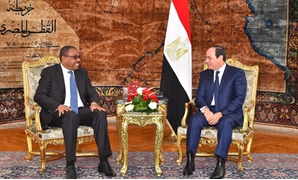 President Abdel Fatah al-Sisi discusses enhancing relations with the Ethiopian Prime Minister HailemariamDesalegn on Thursday, January 18, 2018 - Photo courtesy of the official Facebook page of the Spokesman of Egyptian Presidency