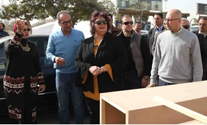 New Minister of Culture Ines Abdeldayem during the inspection tour in fairgrounds-Official Facebook Page