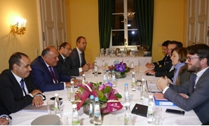 File:  Egypt's Foreign Minister Sameh Shoukry met the Minister of French Armed Forces, Florence Barley, in Munich