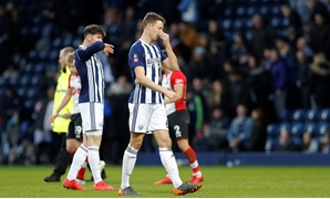 Soccer Football - FA Cup Fifth Round - West Bromwich Albion vs Southampton - The Hawthorns, West Bromwich, Britain - February 17, 2018 West Bromwich Albion's Jonny Evans looks dejected after the match REUTERS/Darren Staples