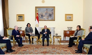 President Abdel Fatah al-Sisi received director of French national school Ecole Nationale d'Administration (ENA) Patrick Gerard on Sunday - Press Photo