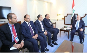 Egypt's Foreifn Minister Sameh Shoukry with Iraqi Prime Minister Haidar al Abadi - Courtesy of Iraqi foreign ministry