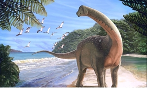 An artist's reconstruction of the Mansourasaurus shahinae - Carnegie Museum of Natural History / Andrew McAfee