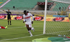 Soccer - Egyptian League, Feb, 19, 2018, Zamalek's Kasongo Kabongo celebrates scoring for his team, Egypt Today