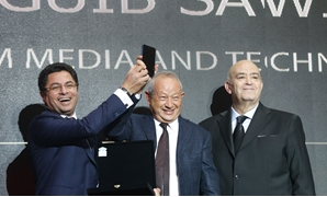 File: BT100 honors Egyptian major businessman NaguibSawiris - Egypt Today