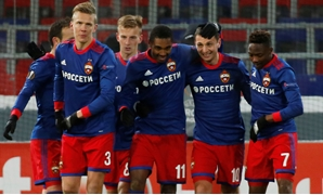 Soccer Football - Europa League Round of 32 Second Leg - CSKA Moscow vs Red Star Belgrade - VEB Arena, Moscow, Russia - February 21, 2018 CSKA Moscow's Alan Dzagoev celebrates scoring their first goal with team mates REUTERS/Maxim Shemetov