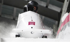 Bobsleigh - Pyeongchang 2018 Winter Olympics - Women's Finals - Olympic Sliding Centre - Pyeongchang, South Korea - February 21, 2018 - Olympic athletes from Russia Nadezhda Sergeeva and Anastasia Kocherzhova compete. REUTERS/Edgar Su