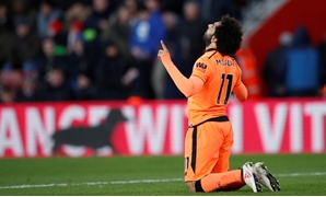 Soccer Football - Premier League - Southampton vs Liverpool - St Mary's Stadium, Southampton, Britain - February 11, 2018 Liverpool's Mohamed Salah celebrates scoring their second goal REUTERS/Eddie Keogh