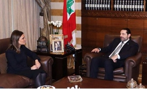 Lebanese Prime Minister Saad al-Hariri during his meeting with Investment and International Cooperation Minister Sahar Nasr - Press photo