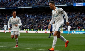 MADRID, Feb 24 (Reuters) - Real Madrid's 'BBC' strikeforce hit back with a vengeance when Cristiano Ronaldo, Gareth Bale and Karim Benzema all scored in a 4-0 win over Alaves on Saturday as the champions moved within four points of second-placed Atletico