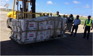FILE: Food aid sent to Somalia