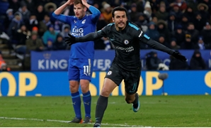 Soccer Football - FA Cup Quarter Final - Leicester City vs Chelsea - King Power Stadium, Leicester, Britain - March 18, 2018 Chelsea's Pedro celebrates scoring their second goal REUTERS/Andrew Yates