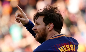 Soccer Football - La Liga Santander - FC Barcelona vs Athletic Bilbao - Camp Nou, Barcelona, Spain - March 18, 2018 Barcelona's Lionel Messi celebrates scoring their second goal REUTERS/Albert Gea