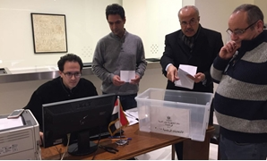 Staff of Egyptian Embassy in Portugal during the sorting process- Press photo