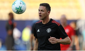 Manchester United's Nemanja Matic during training REUTERS/Eddie Keogh