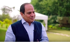 President Abdel Fatah al-Sisi during interview