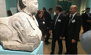 Photo from exhibition featuring sunken Egyptian monuments, March 22, 2018 – Photo courtesy of Minister of Antiquities.