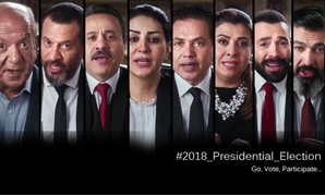 """Vote,"" ""Participate,"" ""Stand by your country,"" were the words directed in the video to Egyptians – Photo compiled by Egypt Today/Mohamed Zain"