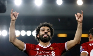 FILE PHOTO: Soccer Football - Champions League - Liverpool vs NK Maribor - Anfield, Liverpool, Britain - November 1, 2017 Liverpool's Mohamed Salah celebrates scoring their first goal REUTERS/Phil Noble/File Photo