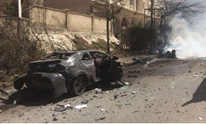 The explosion in center Alexandria that targeted the police chief on March 24, 2018 - Press photo
